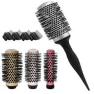LELEKEY 4in1 Round Hair Brush Set, 1 Detachable Handle